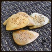 Laser Tones Lignum Vitae Guitar Picks | Timber Tones